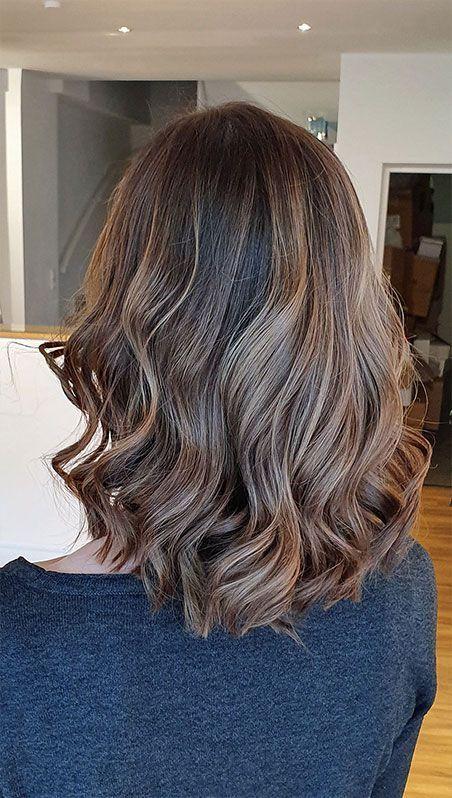 Braune haare für haarsträhnen Strähnchen ganz